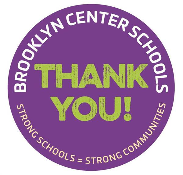Thank you logo for strong schools = Strong communities