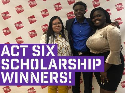 Celebrating three Act Six Scholarship winners