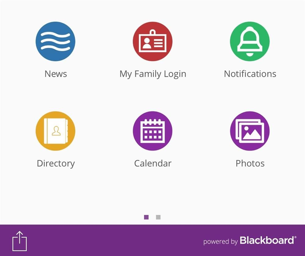 Blackboard mobile app