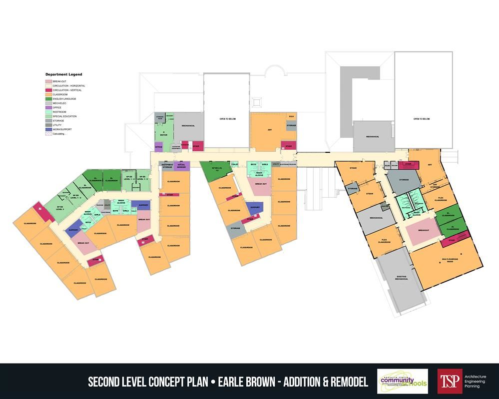 EBE second floor concept plan